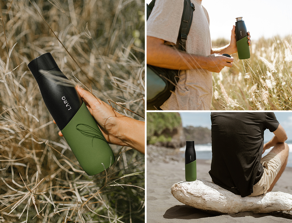 LARQ Bottle Movement Terra Edition in Black/Pine